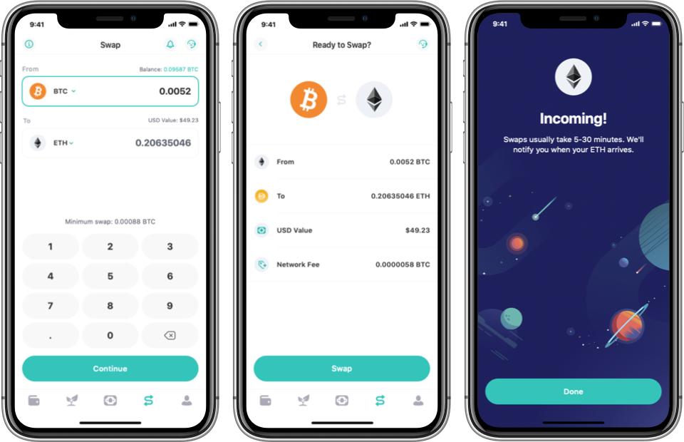 Crypto swap step by step