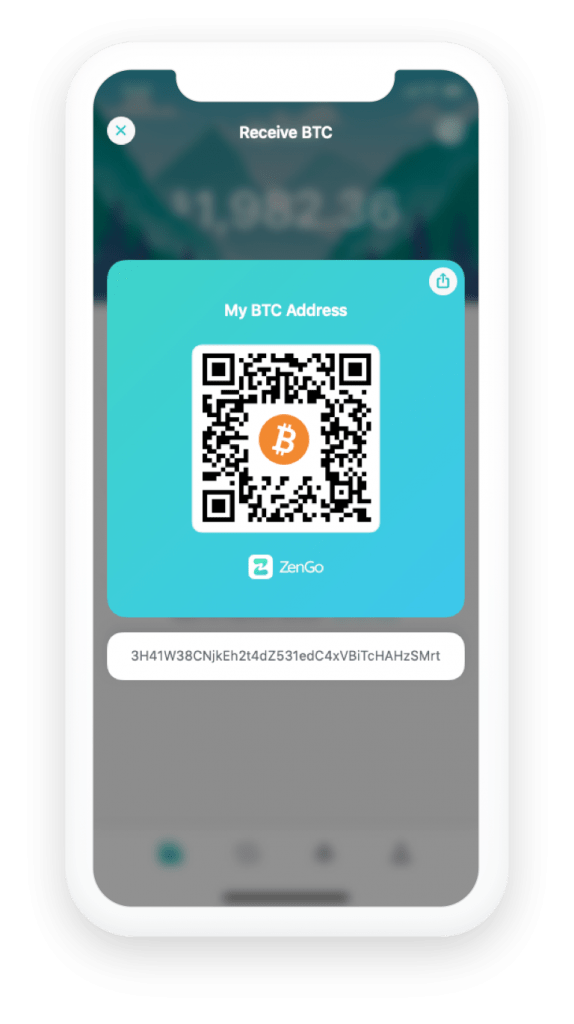 Receive Bitcoin using QR Code